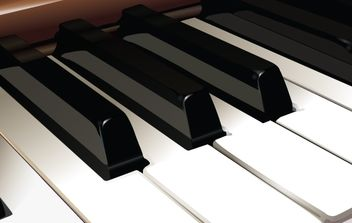 Vector Piano Keys - vector gratuit #174479