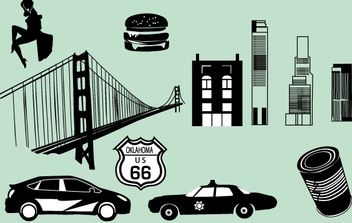 Black/White City Vector - Free vector #174519