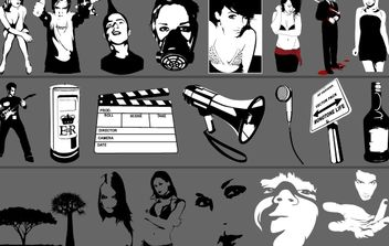 Vector Monotone Stuff - бесплатный vector #174569