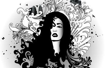 Black & White Swirl Glamour - бесплатный vector #174589