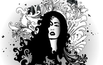 Black & White Swirl Glamour - Free vector #174589