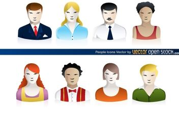 People Icons - vector gratuit #174609