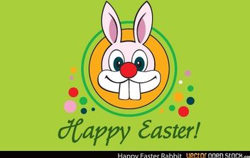 Happy Easter Rabbit - vector gratuit #174619