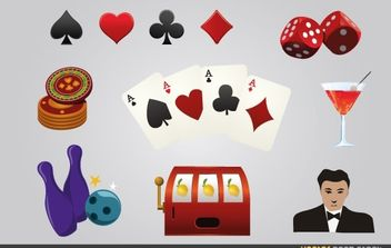Casino Games Elements - Kostenloses vector #174629
