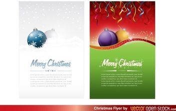 Christmas Flyer - vector gratuit #174679
