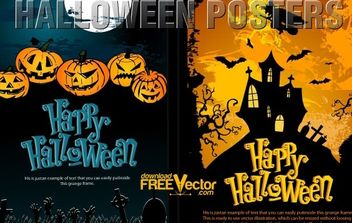 Vector Halloween Templates - Kostenloses vector #174729