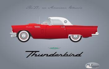 1957 Thunderbird - Free vector #174819