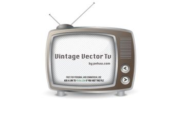 Vintage Free Vector TV - vector gratuit #174879