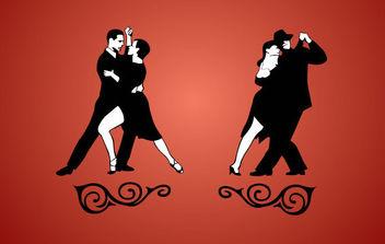 Tango Dancing - Free vector #175059