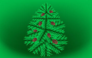 Fir Christmas Vector Tree - Free vector #175129