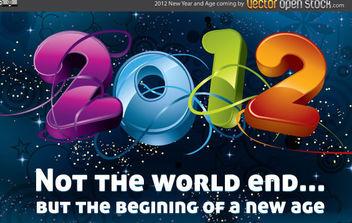 New Year 2012 - vector gratuit #175169