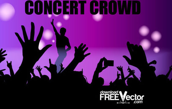 Free Vector Concert Crowd - бесплатный vector #175229