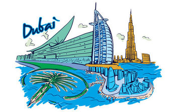 Vector Dubai Illustration - vector gratuit #175329