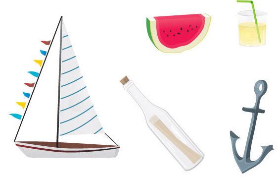 Summer stuff - vector gratuit #175459