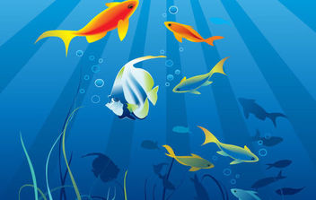 World of Underwater Vectors - vector gratuit #175479