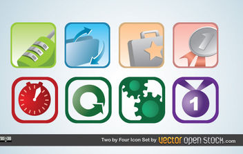 Two by Four icon Set - vector #175569 gratis