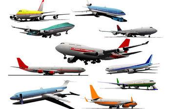 Realistic Vector Planes - Free vector #175619