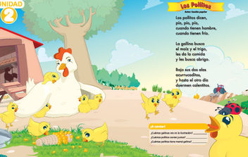Farm with hen and chicks - vector #175679 gratis