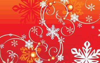 Winter Snowflake Vector - Free vector #175809