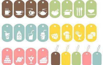 25 Food Vector Symbols - Free vector #175819