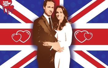 William Kate Wedding Vector - бесплатный vector #175869