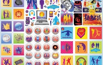 Party Icons - vector #175909 gratis