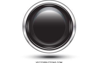 Platinum Black Circle Button - Kostenloses vector #176169