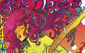 Psychedelic Rock Star Poster Vector - Free vector #176219