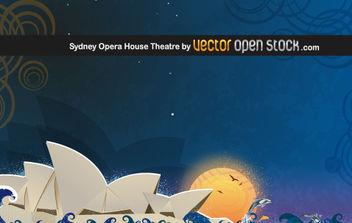 Sydney Opera House Theatre - Free vector #176229