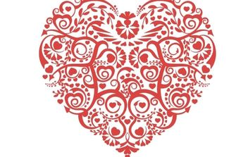 Valentines Vector red Heart - vector gratuit #176359