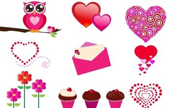 FREE VALENTINE'S DAY ICONS - vector gratuit #176369