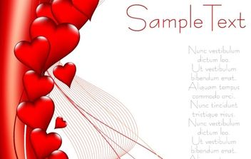 Valentine's Day heart-shaped vector - Free vector #176399
