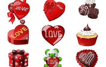Valentine day cake - Free vector #176409