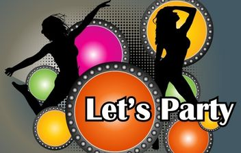 Party Poster Vector - Free vector #176429