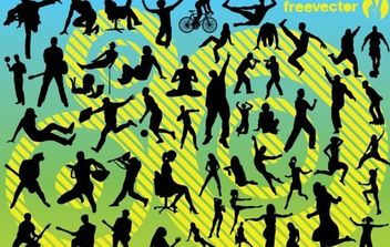 Active People - vector gratuit #176509