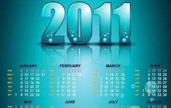 Year 2011 Calendars 22 - Free vector #176539