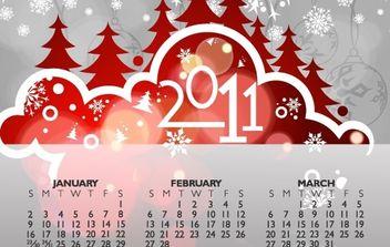 Calendar 2011 Vector - Kostenloses vector #176569
