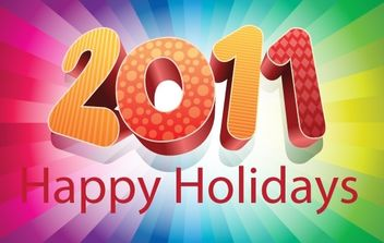 2011 Happy Holidays - Free vector #176579