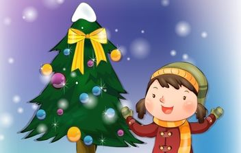 Christmas Child - vector #176639 gratis