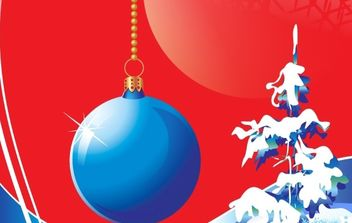 Blue Christmas Vector Design Theme - бесплатный vector #176689