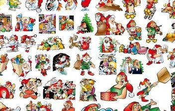 46 lovely Christmas vector illustration background material - Free vector #176699