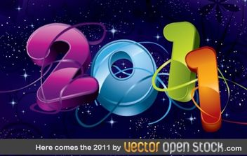 Here comes the 2011 - Free vector #176709