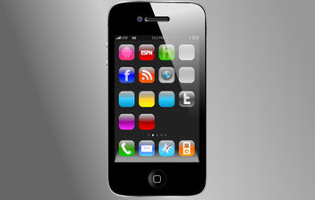 iPhone4 Vector without App Vectors - vector gratuit #176729