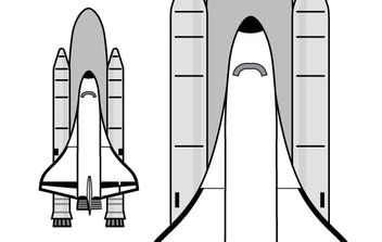 Space Shuttle clip art - Free vector #176789