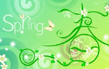 VECTOR SPRING THEME MATERIAL-2 - Free vector #176839