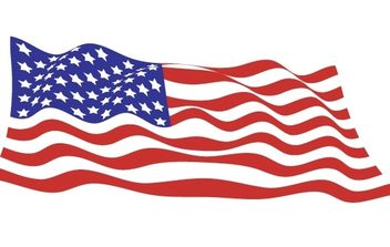 Sample file from USA flags vector pack - Free vector #176949
