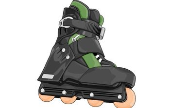 Roller skate shoes 2 - Free vector #176969