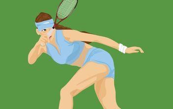 Tennis sport vector 2 - Free vector #176999