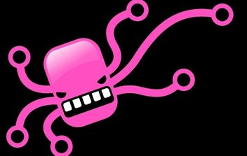 Pink octopus free vector - Free vector #177109