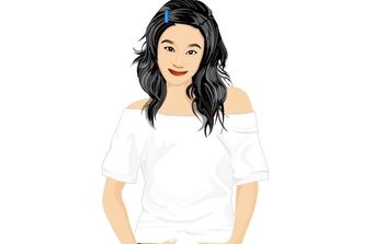 Jeans Girl Vector 16 - Free vector #177219
